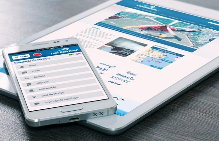 Site com design responsivo e aplicativo mobile para Radiomar
