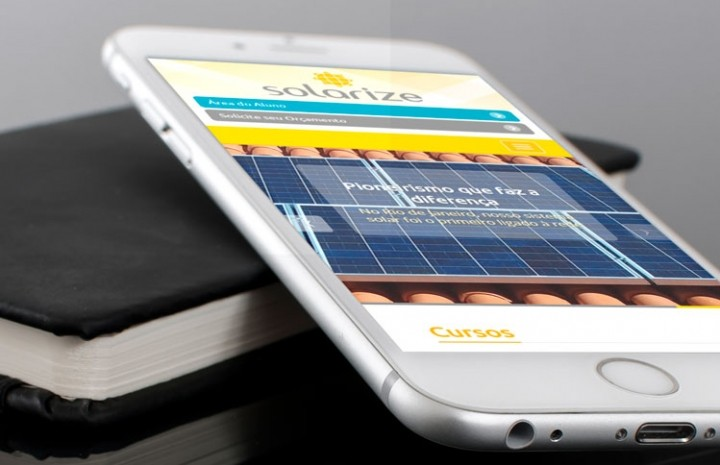 Site responsivo da Solarize