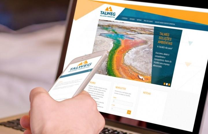 Site responsivo da Talweg