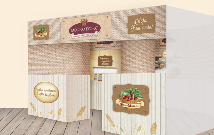 Design gráfico - ilustração geral do estande