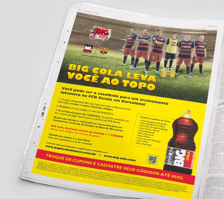 Anúncio BIG Cola jornal Lance