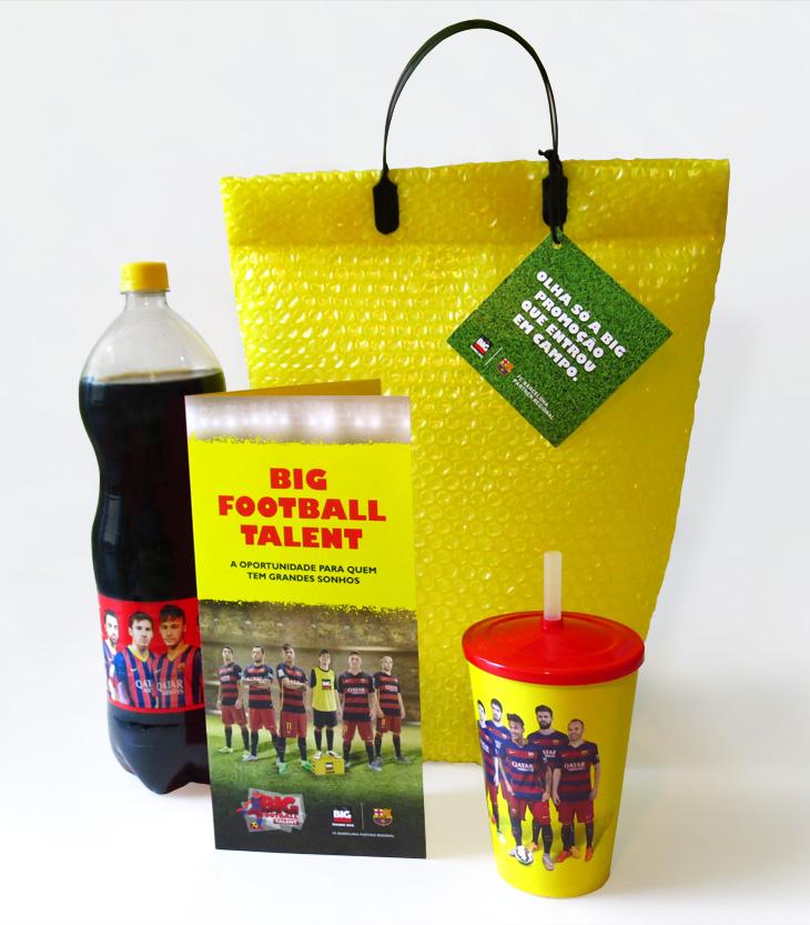 Press kit da BIG Cola para imprensa