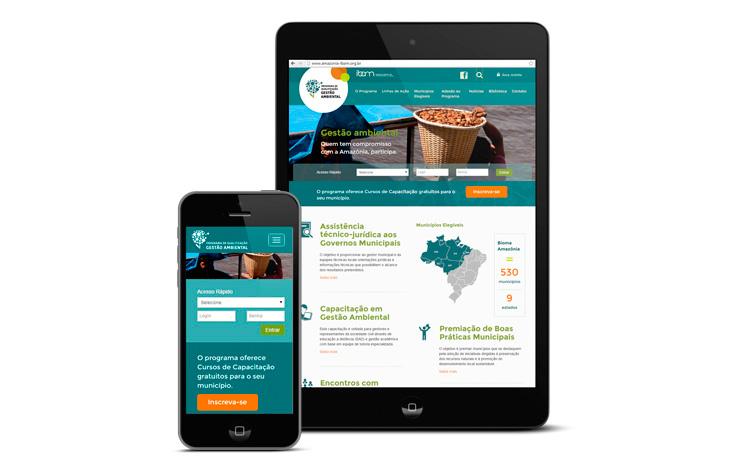 design de site responsivo para o IBAM