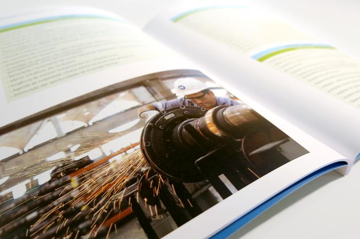 Design editorial - projeto gráfico, criação de conteúdo e diagramação para os relatórios do MetrôRio