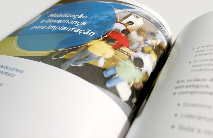 Design editorial - projeto gráfico, criação de conteúdo e diagramação para a comunicação institucional do MetrôRio