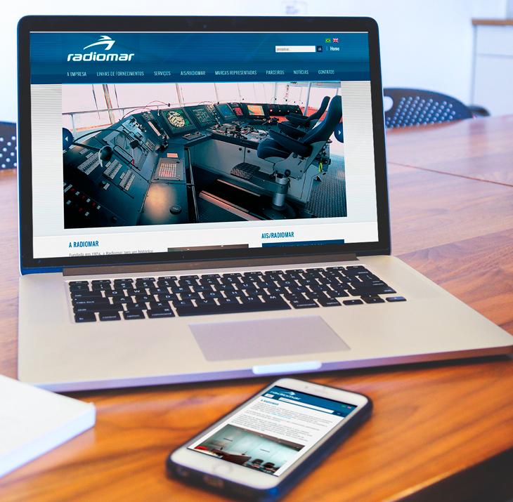 design de site responsivo para a Radiomar