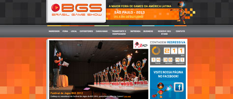 Website Brasil Game Show 2012